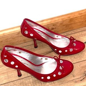 JESSICA SIMPSON SEXY CHERRY RED PATENT LEATHER